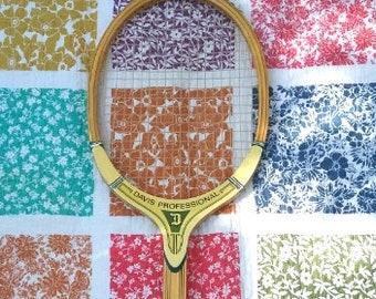 TAD Davis Professional Model Wood Tennis Racquet vintage 60s 70s Grip 4M
