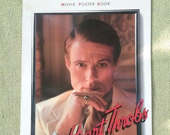 Movie Poster Book Heart Throbs Vintage 1985 Redford Gable Dean Brando Burt Reynolds Elvis Presley more