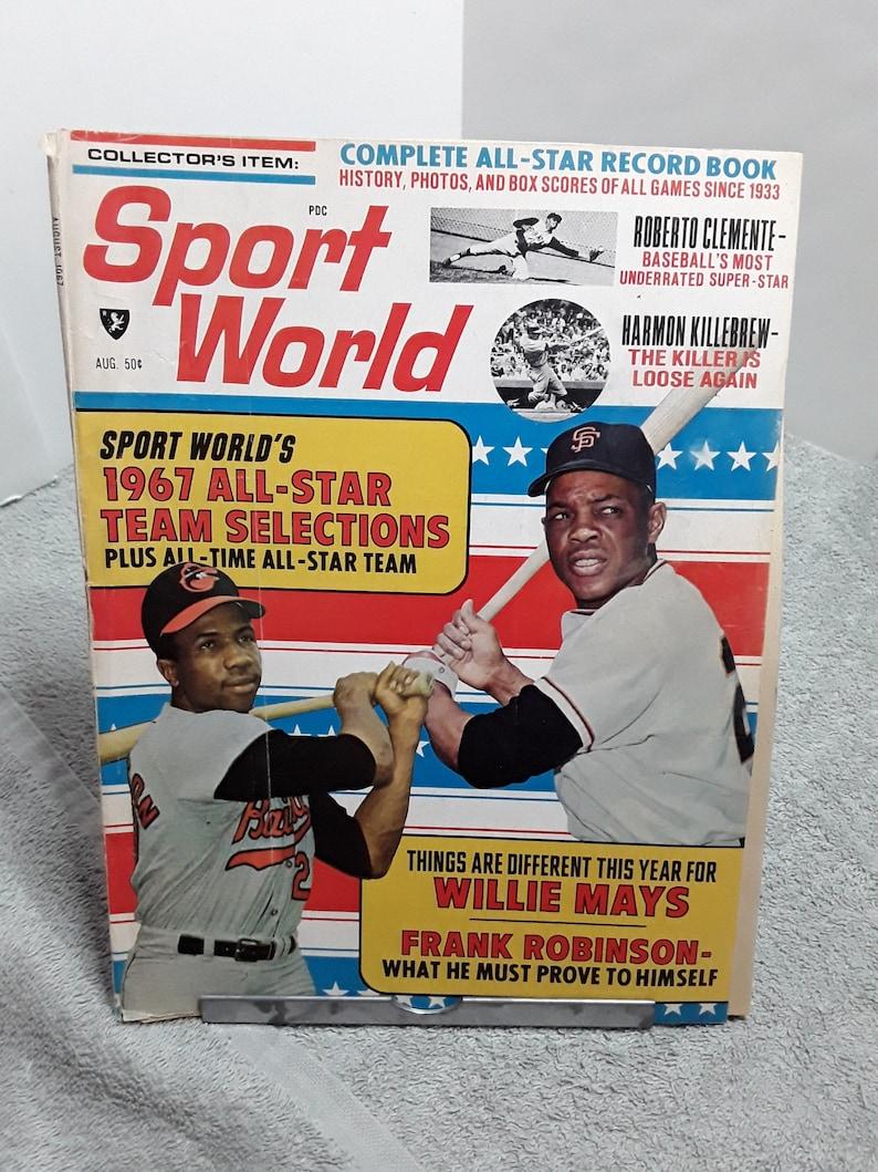 Sport World Magazine Baseball Vintage August 1967 Frank Robinson Willie Mays Harmon Killebrew Richie Allen Roberto Clemente Aaron more