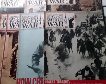 History Of Second World War Magazine lot of 7 issues War Vintage bundle 1970s