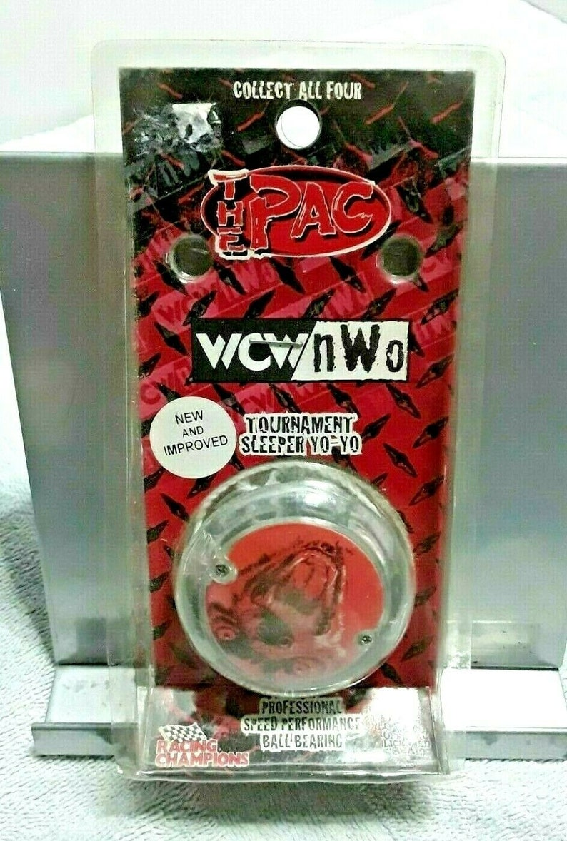 Vintage WCW NWO Wolfpac Tournament Yo-Yo Factory Sealed In Package 1999 Wolf