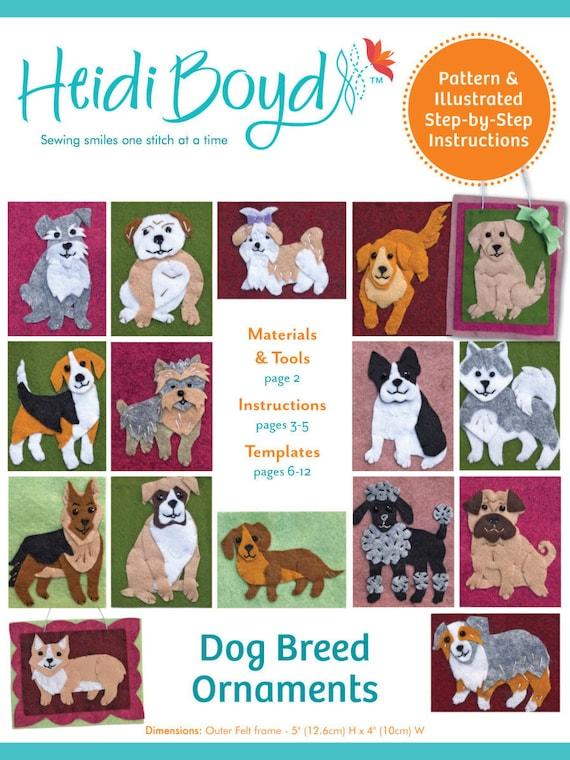 16 Dog Breeds Felt Ornaments Labrador German Shepherd Etsy