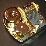 Clair De Lune - - Best Quality Gold Movement for your Music Box Project - Lots of New Songs, Gold Sankyo 18 Note Mechanism