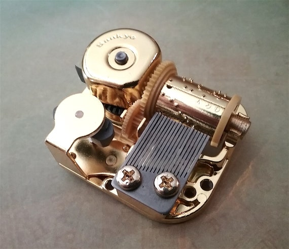 Golden 18 Note Sankyo Music Box Movement Best Quality Nocturne by Chopin