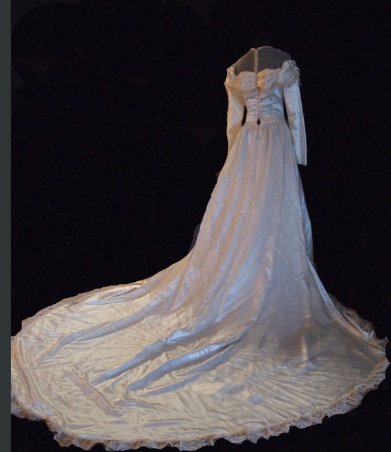 1940s Wedding Gown. S - image 3