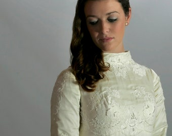 Wedding Dress, Vintage William Cahill, XS or S, 1960s