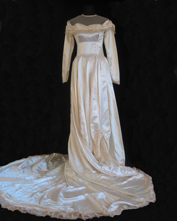 1940s Wedding Gown. S - image 4