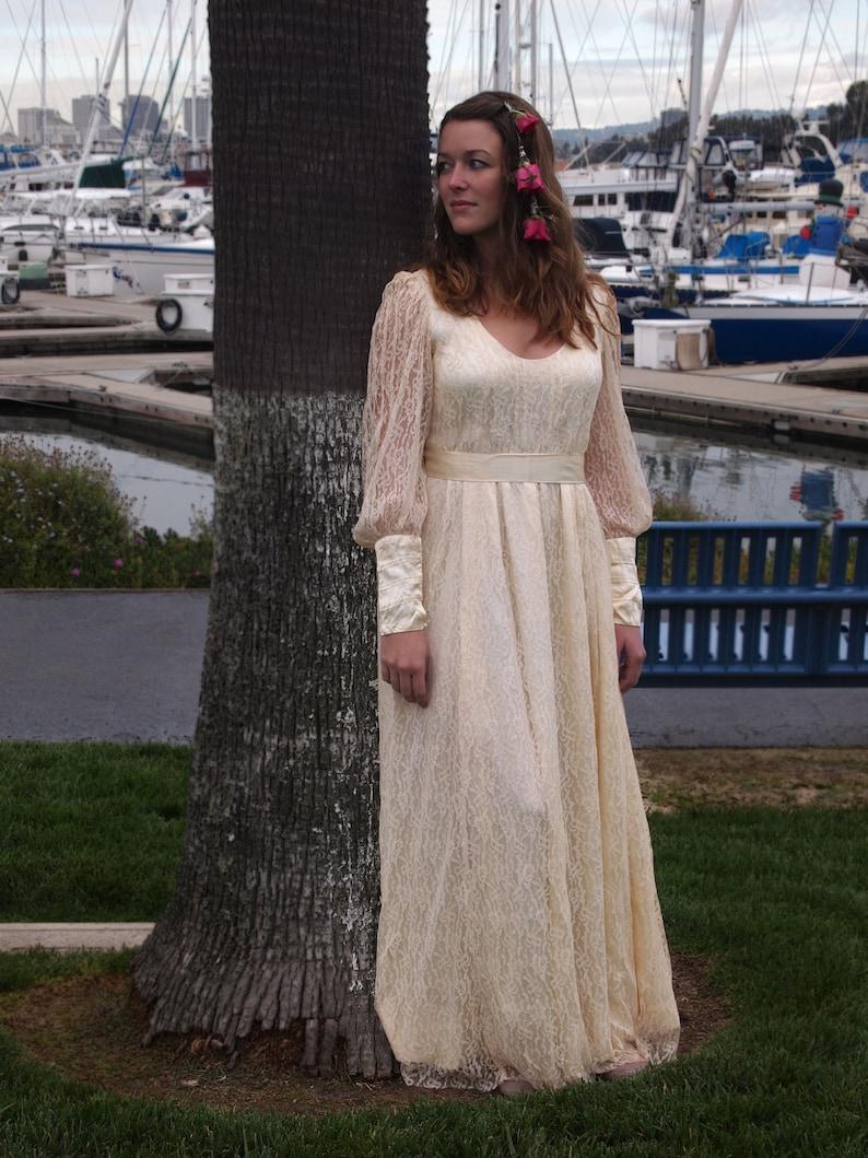Vintage Wedding or Renn Fair Dress 70's M image 0