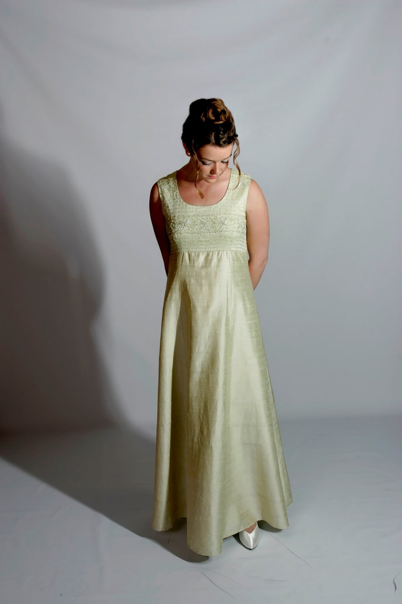 Mint Green Vintage Gown Hong Kong Couture M image 0