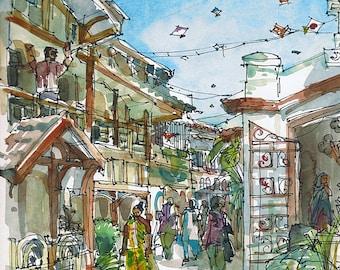 India, Kite Flying Festival Mumbai  Bombay- fine art print