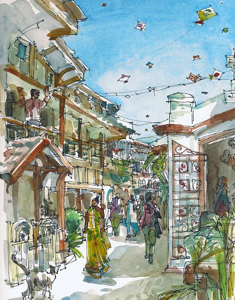 India Kite Flying Festival Mumbai  Bombay fine art print image 0