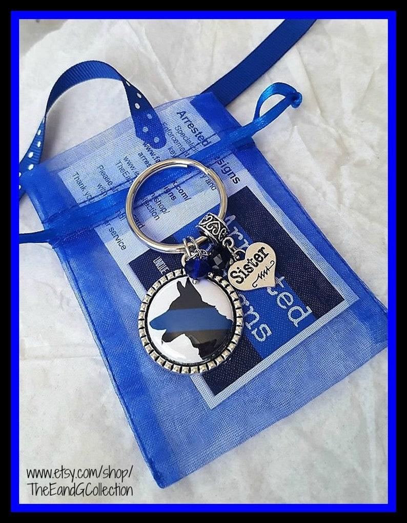 K-9 Wife keychain Police K9 Thin blue line K9 Mom keyring