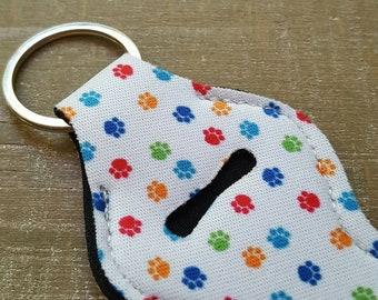 Chapstick Holder Keychain, Dog paw print, Dog lover, Puppy rescue, Weimaraner gifts, Gift for Mom, My dog my best friend, Lipstick Holder