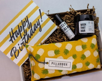 Happy Birthday Gift For Her Custom Pineapple Care Package Friend Basket 21st