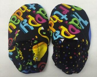 Happy Birthday Baby Slippers