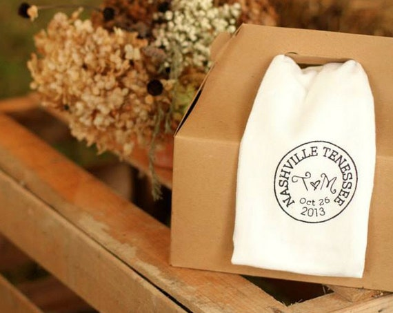 CUSTOM (Set of 50) 100% Cotton Flour Sack Hand/Dish Towel/Cloth Napkin/Wedding Favor
