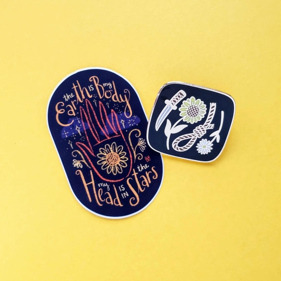 Harold & Maude Gift Set: Limited Edition Enamel Pin and Sticker