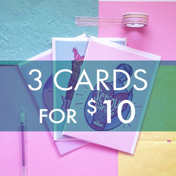 3 Greeting Cards for 10 (Bundle & Save)