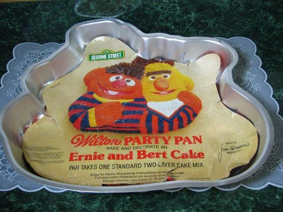 Wilton Ernie Bert Cake Pan Wilton Cake Pan Sesame Etsy
