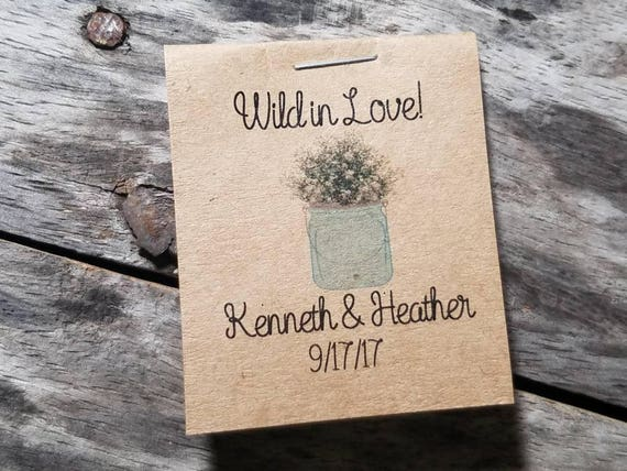 Love in Bloom Wedding Favors of Forget Me Not Seeds--Business Marketing 100 Seed Matchbooks
