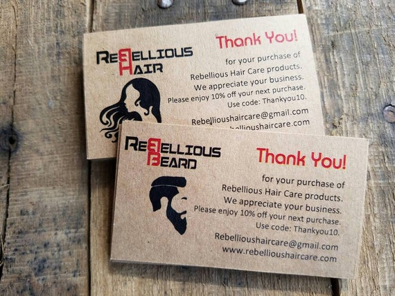 Custom hair nail salon beauty salon thank you cards promo etsy image 0 reheart Choice Image