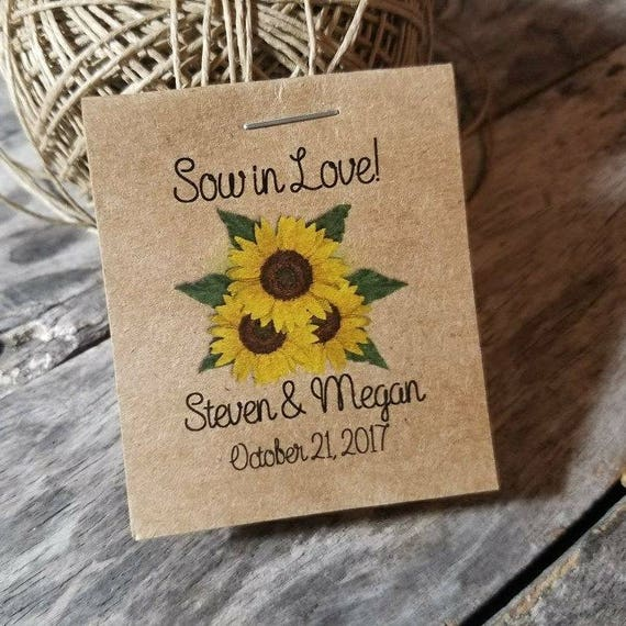The Mini Rustic Sunflowers Wedding Reception Favors Bridal Etsy