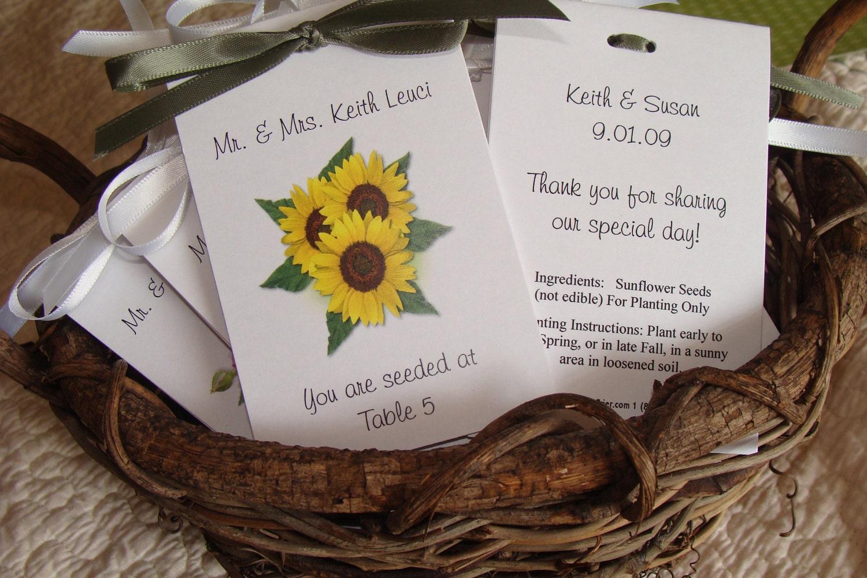 Ausgezeichnet Sunflower Seeds For Wedding Favors Bilder ...