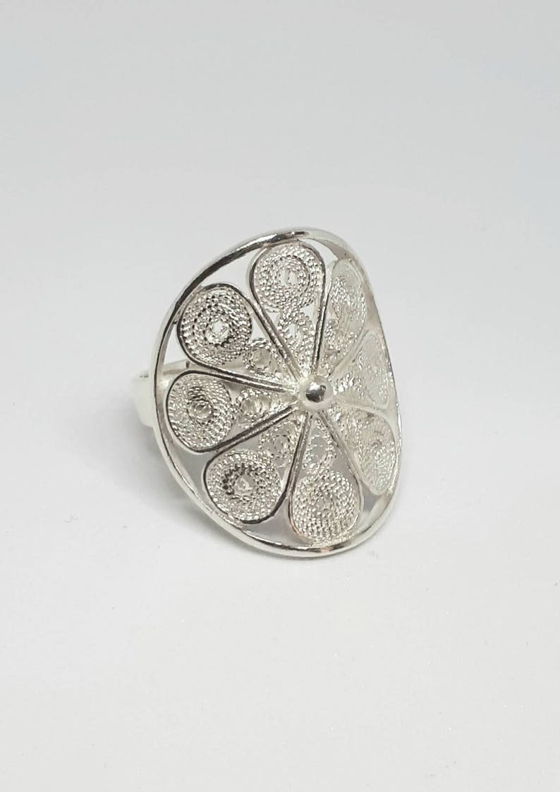 RARE 925 Sterling Argent Naturel Noir Agate Gemmes Handcrafted Ring Taille 7//8//9//10