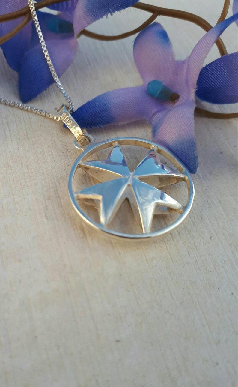 Malta handmade gifts and souvenirs Sterling silver maltese cross necklace Croce di Malta Knights of Malta cross pendant