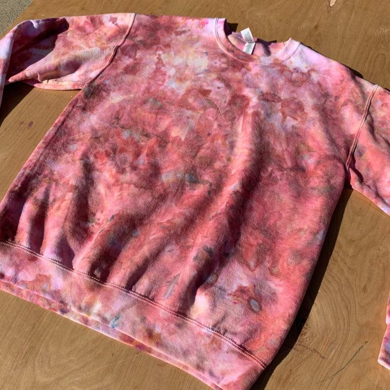 Tie-Dye Shirt Tie-Dye Sweatshirt Loungewear Sweatshirt Earth Tones Tie-Dye Crewneck Sweatshirt Terra Cotta TieDye Women\u2019s Tie-Dye