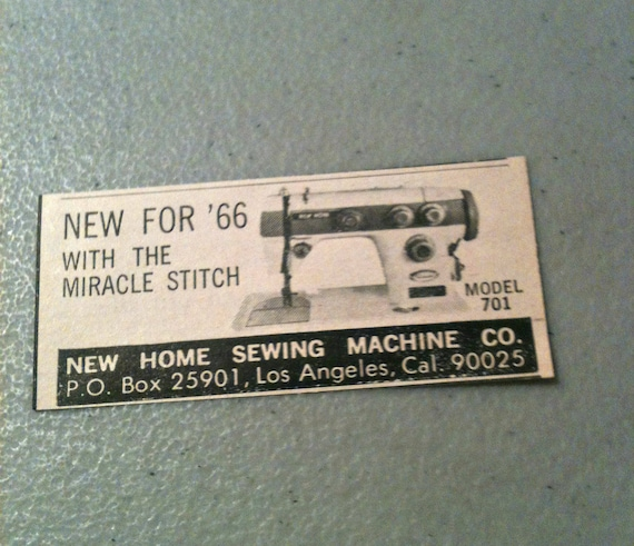 Miracle Stitch Sewing Machine Ad Vintage Sewing Machine Ad Etsy Magnificent Miracle Sewing Machine