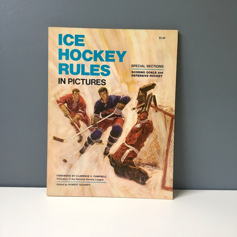 Ice Hockey Rules In Pictures Edited By Robert Scharff 1967 Etsy