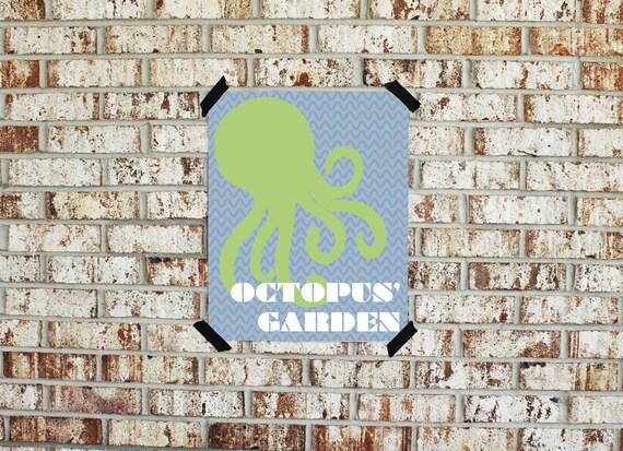 Items similar to Printable Beatles Collections Octopus\' Garden ...