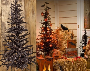 Decorating Christmas Trees For Halloween.Halloween Tree Etsy