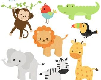 graphic regarding Free Printable Baby Safari Animals identified as Safari pets Etsy