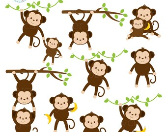 monkey clipart etsy rh etsy com monkey clipart pictures monkey clip art coloring page