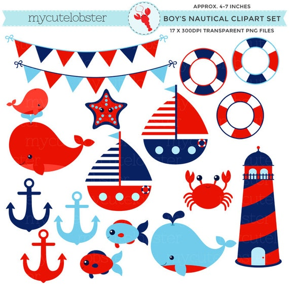 boy s nautical clipart set clip art set of lighthouse etsy rh etsy com nautical clip art free nautical clip art borders free download