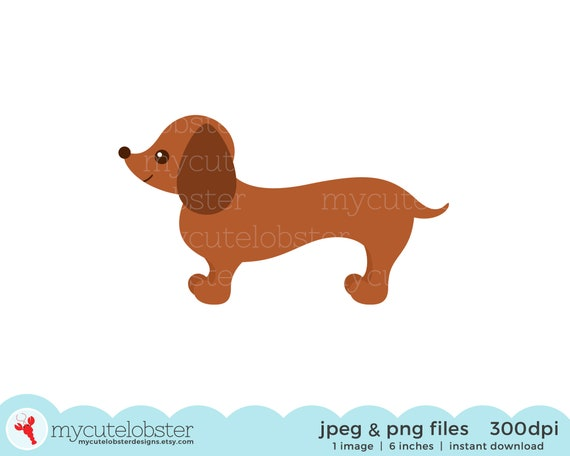 Commercial use cute dog clipart wiener dog clipart Planner supplies Dachshund Clipart watercolor clipart Puppy clipart Paper supplies