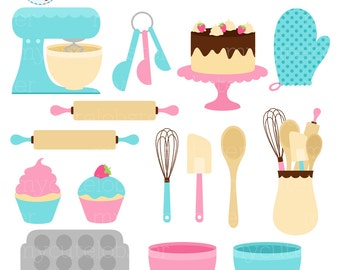 Baking Clipart Set - clip art set of baking items - personal use, small commercial use, instant download