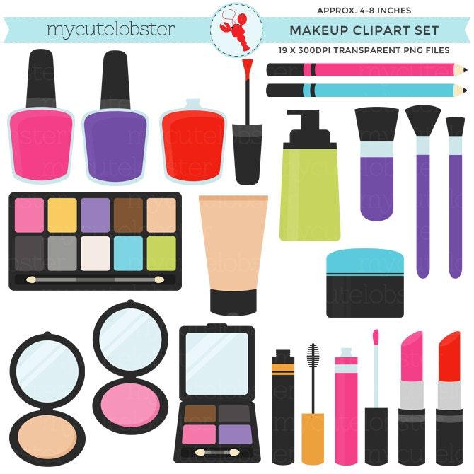 makeup clipart set clip art set of lipstick nail polish etsy rh etsy com makeup clip art free makeup clip art images