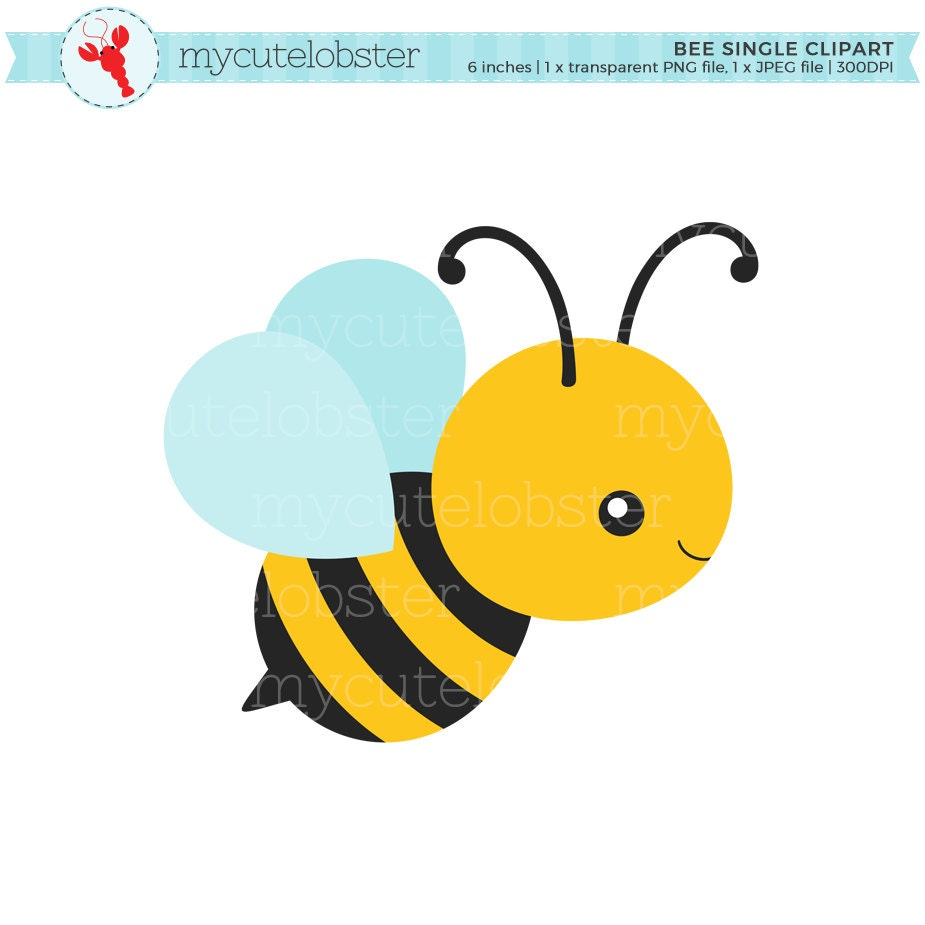 Bee Single Clipart clip art of a cute bee bumblebee honey ...