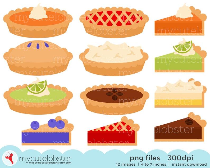 Pies Clipart Set  clip art set of pies pumpkin cherry image 0