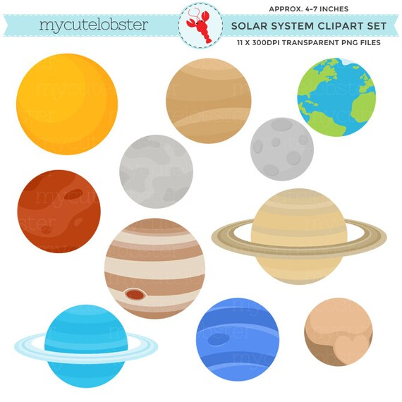 solar system clipart set clip art of the planets earth etsy rh etsy com solar system clipart pictures solar system clipart images