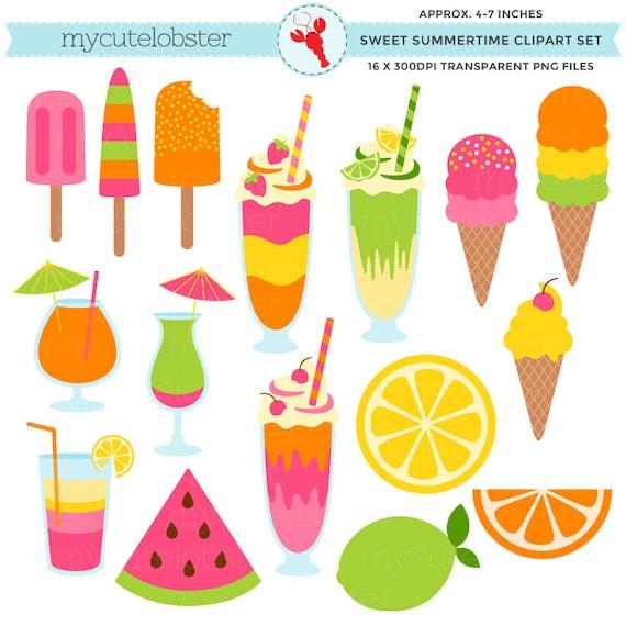 sweet summertime clipart set ice cream summer milkshakes etsy rh etsy com sweet summertime clipart summertime fun clipart