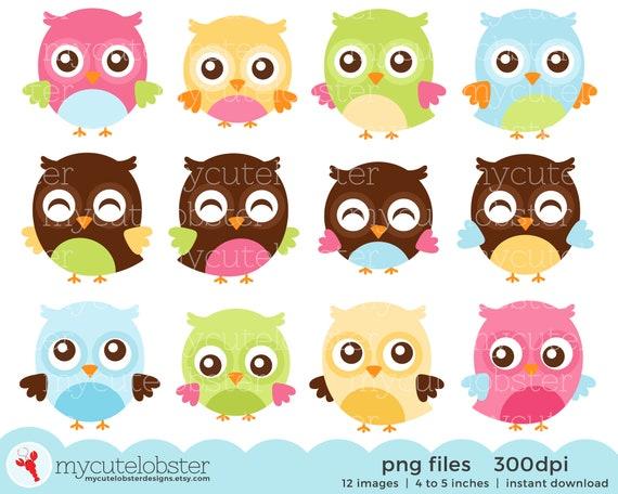 Happy Owl Clip Art