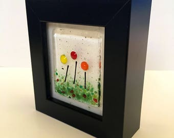 Glass Art Miniatures Bright Flowers