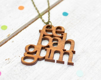 Ee Bah Gum Yorkshire Necklace | Yorkshire Words | Nickel Free