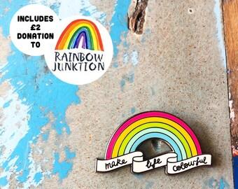 Rainbow Enamel Pin with Donation
