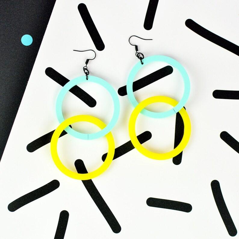 80s Inspired Hoop Earrings