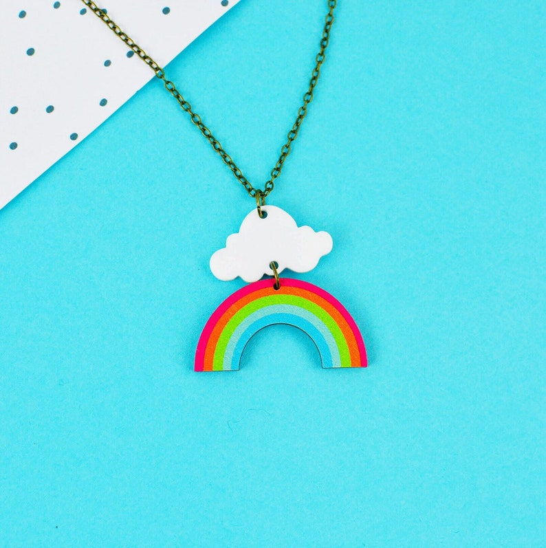 PRE-ORDER Rainbow Cloud Necklace image 0